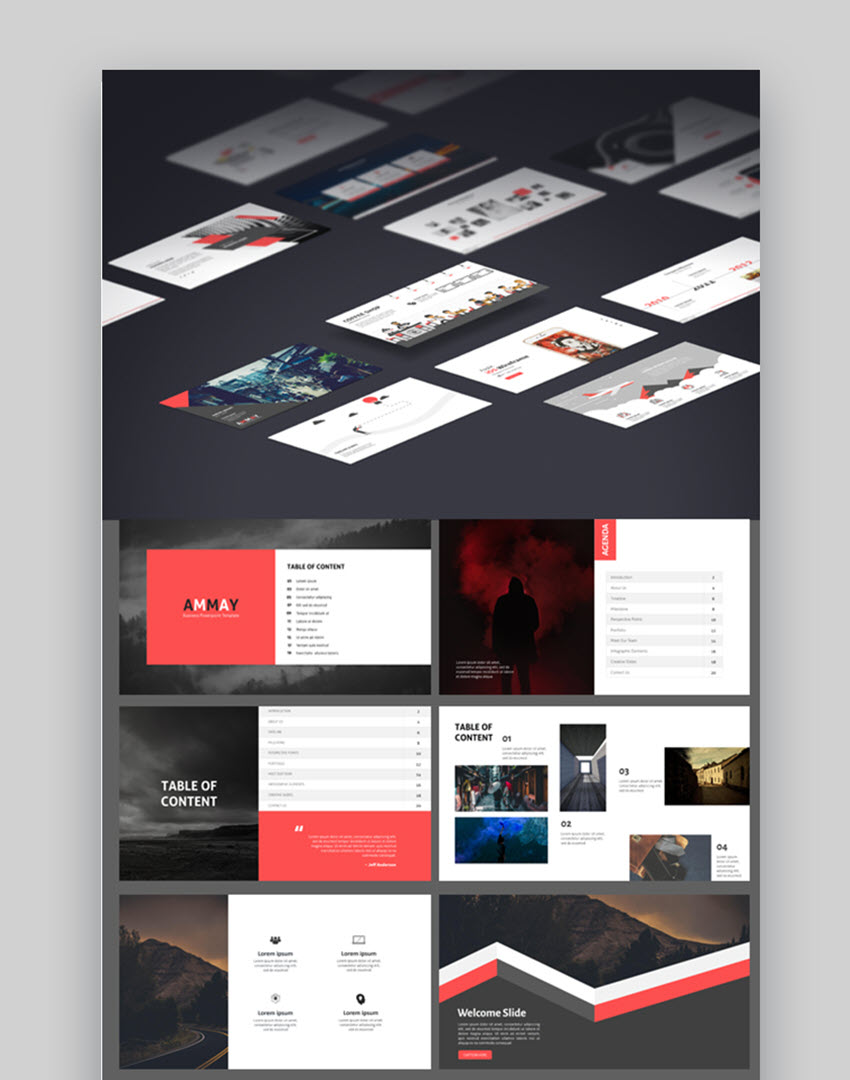 18 cool powerpoint templates to make presentations in 2018 ammay amazing business powerpoint template wajeb Choice Image