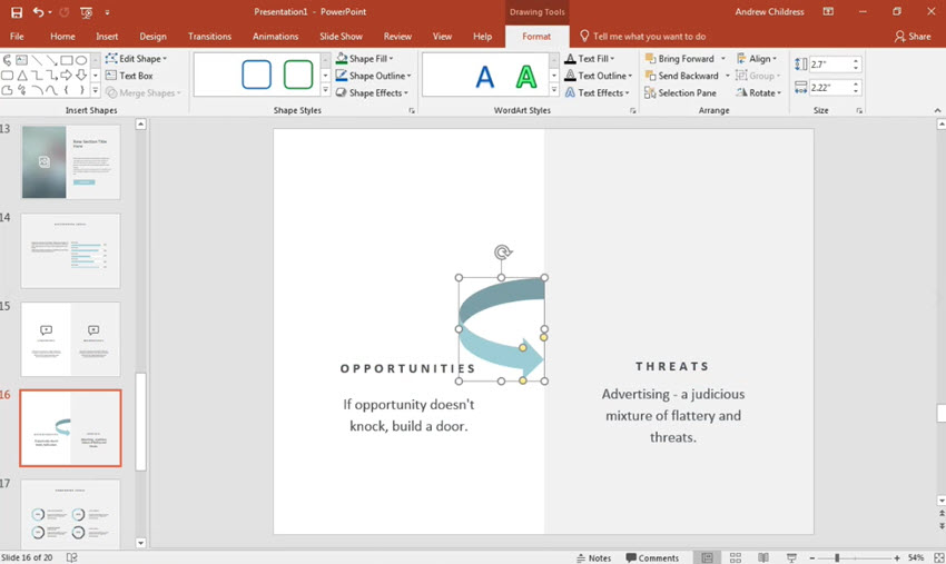 How to Make Curved Arrows in PowerPoint in 60 Seconds