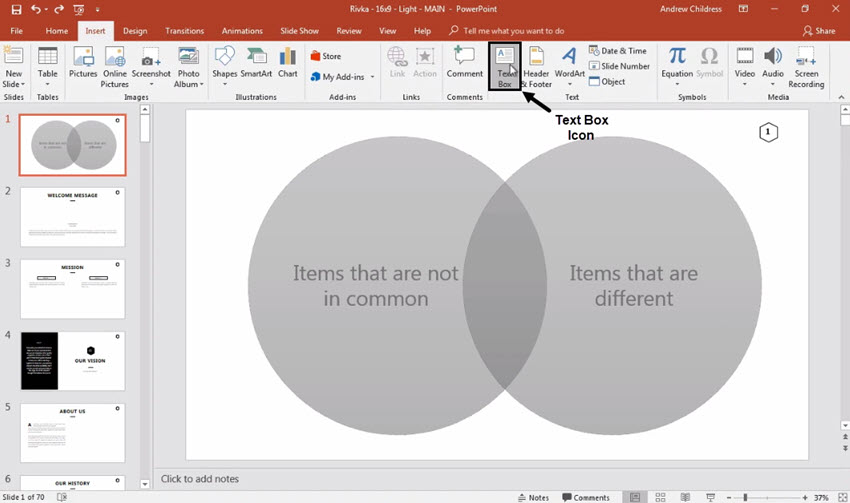 How to make a venn diagram in powerpoint in 60 seconds label powerpoint venn diagram ccuart Images