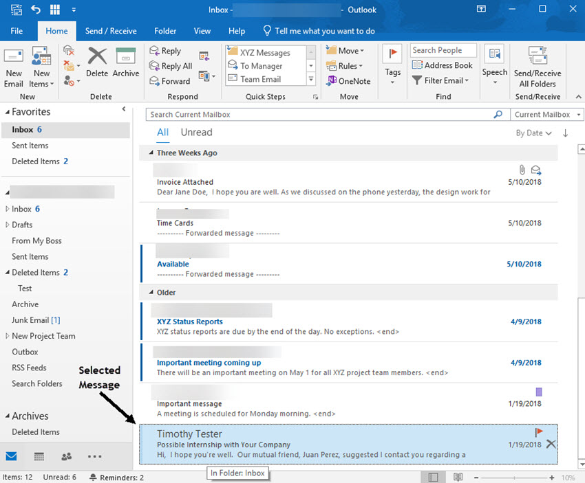 how to find folders on outlook