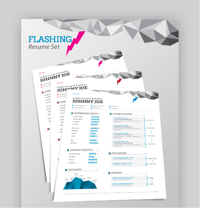Flashing Resume Set