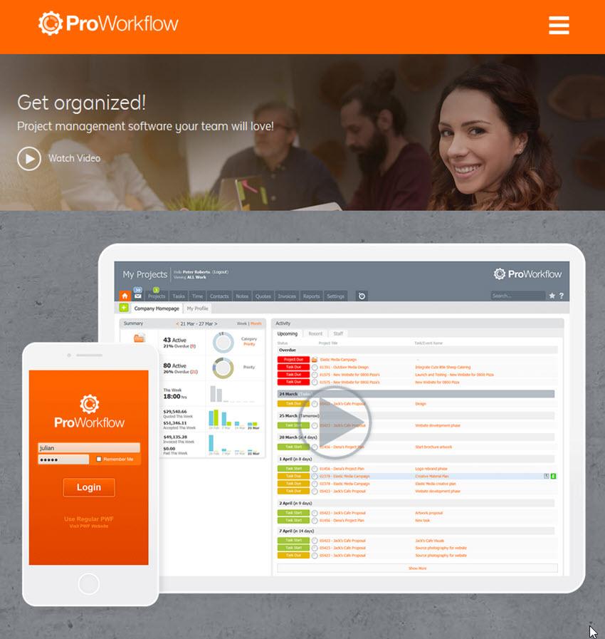 ProWorkflow project management