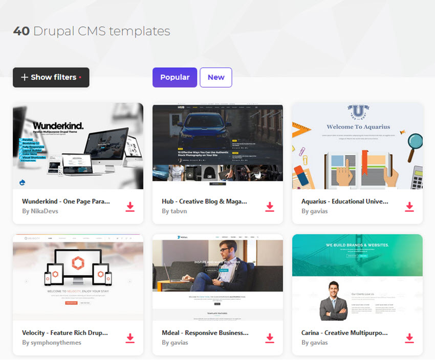 20 Best Drupal 7 & 8 Bootstrap Themes With Premium Designs