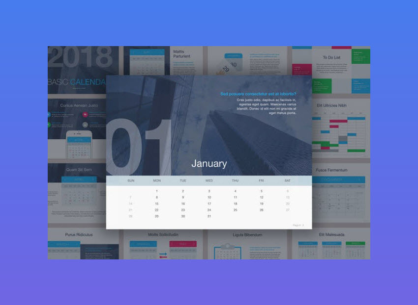 Calendar Design Powerpoint : Best powerpoint calendar template ppt designs for