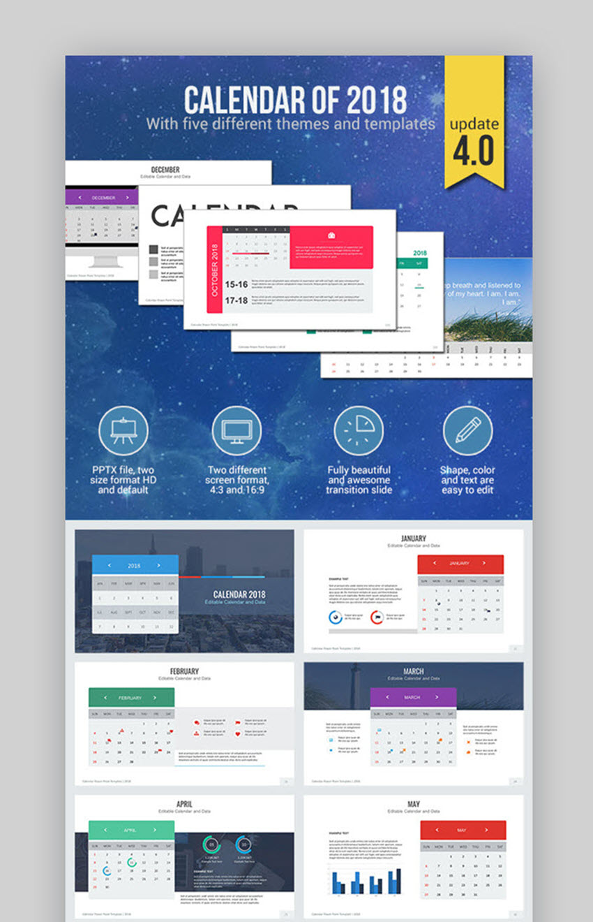 18 best powerpoint calendar template ppt designs for 2018, Powerpoint Schedule Template, Powerpoint templates