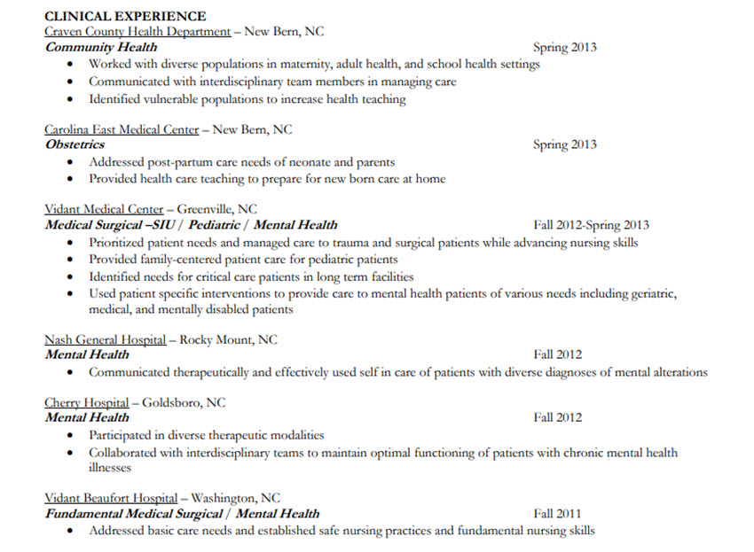 How To Make A Chronological Order Resume With Templates