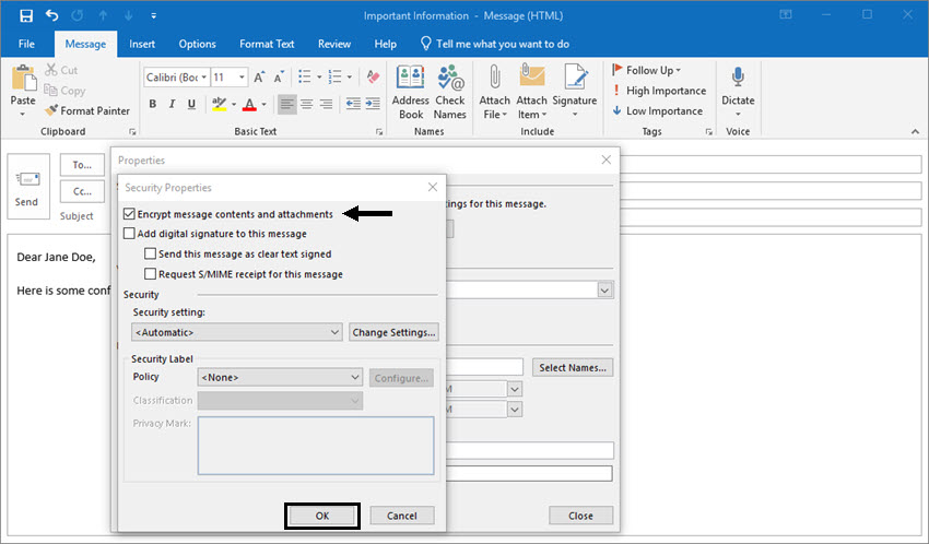 how to make adobe default in outlook