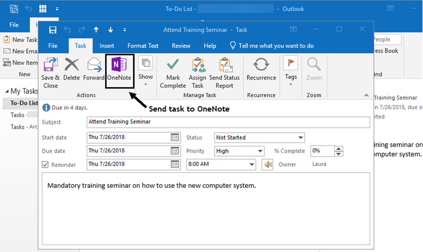 microsoft onenote outlook integration