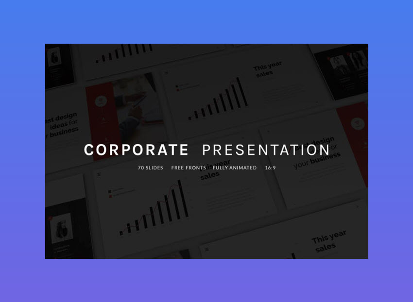 16 best free animated powerpoint templates with cool slides 5 corporate presentation corporate presentation dont overlook this fully animated powerpoint template toneelgroepblik Image collections