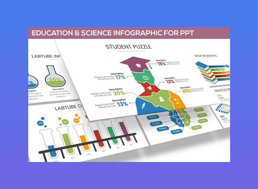 Education Science PowerPoint template