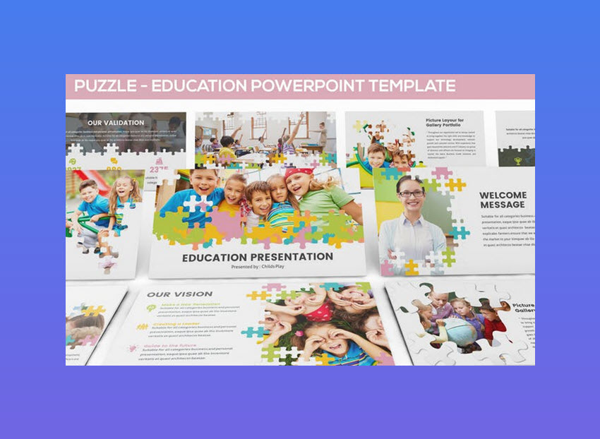 Puzzle Education PowerPoint template