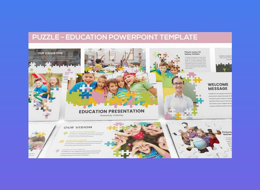 Puzzle - plantilla de PowerPoint educativa
