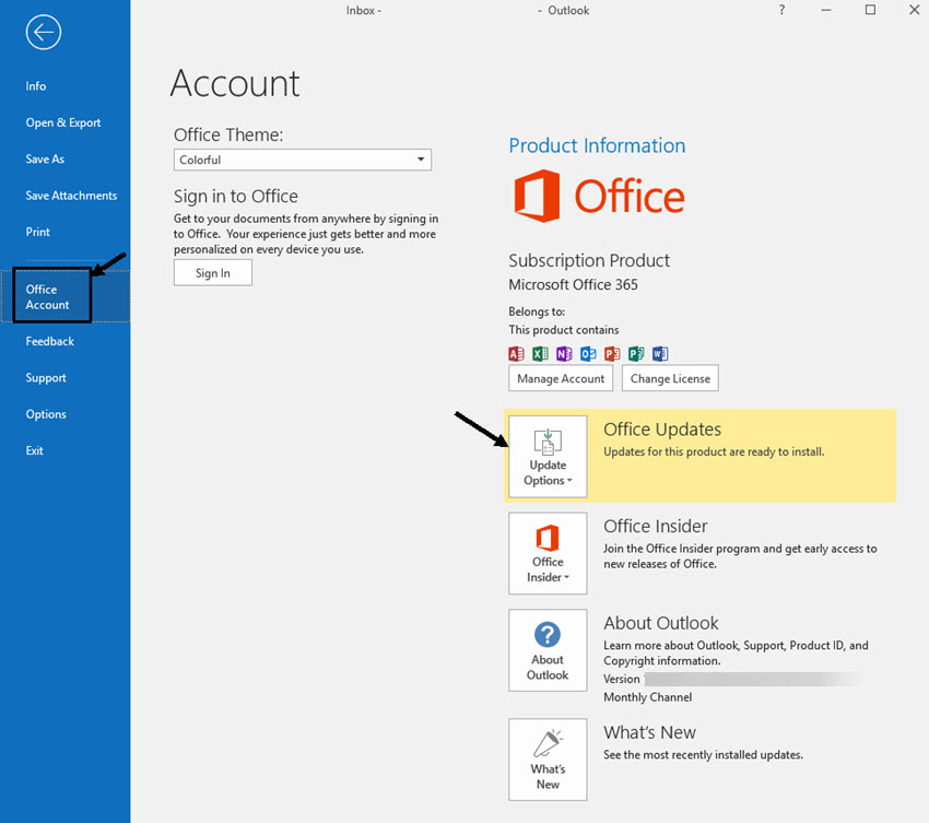 How to change email password for outlook 2020