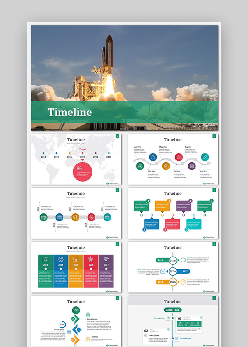 Timeline Success PowerPoint Presentation Templatae