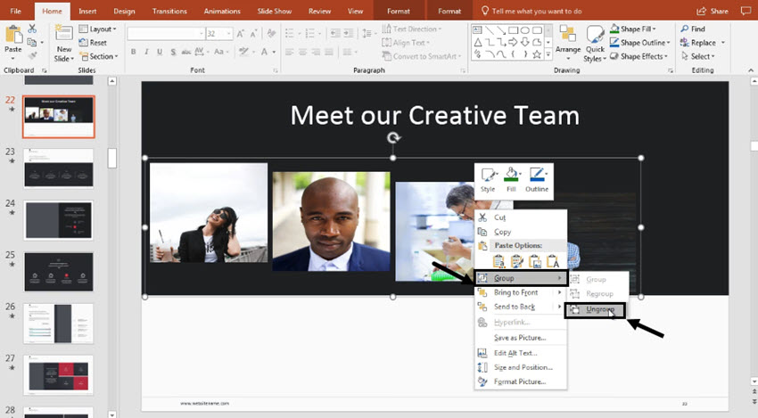How to Group Objects, Items, & Pictures in PowerPoint (In 60