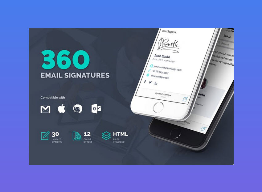 how to make a professional looking email signature