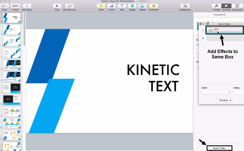 how to use kinetic typography animations in keynote in 60 seconds