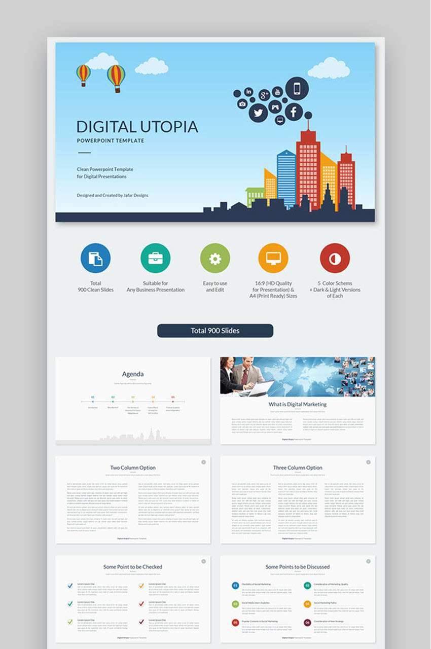 Digital Utopia PowerPoint Template