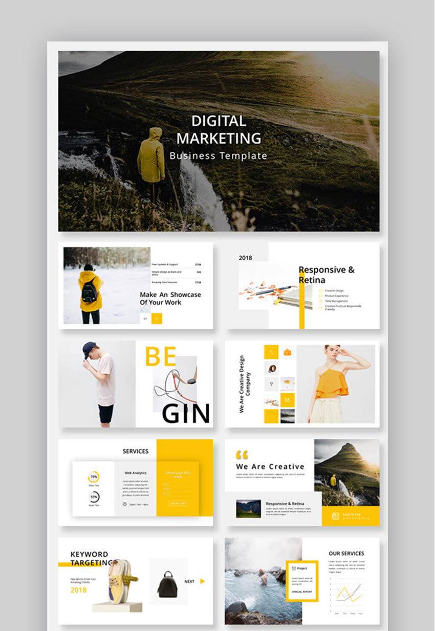 Digital Marketing Business PowerPoint Template