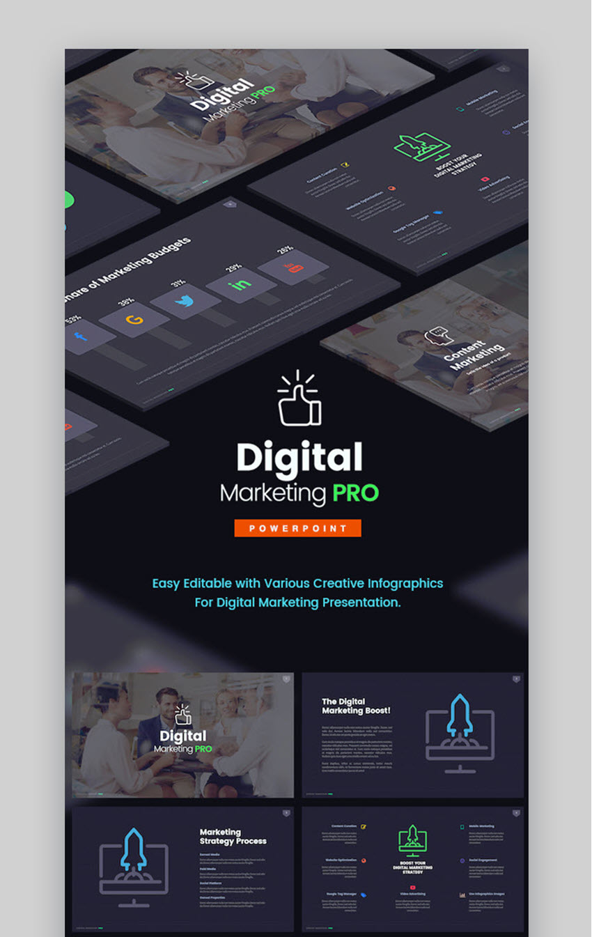 Digital Marketing Pro PowerPoint Template