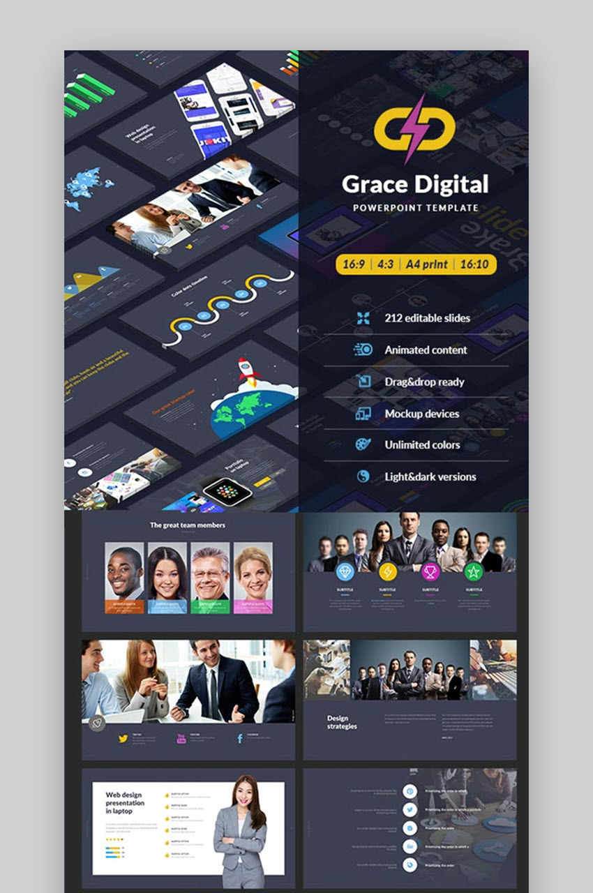 Grace Digital PowerPoint Template