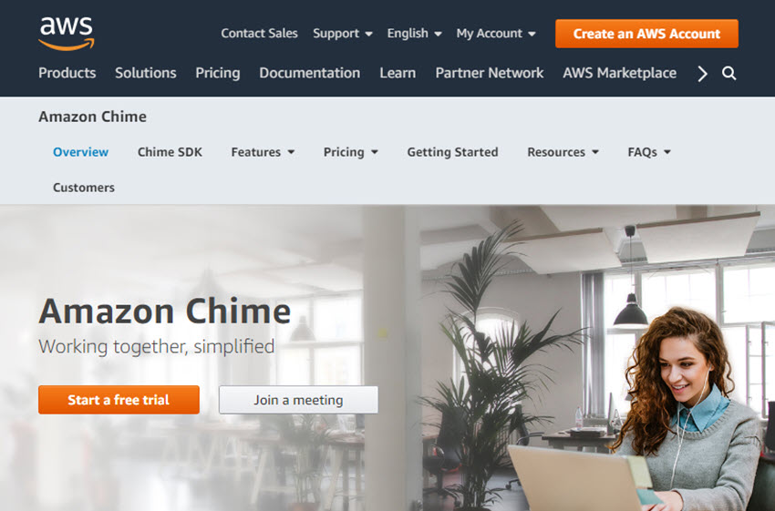 Amazon Chime Web Meeting