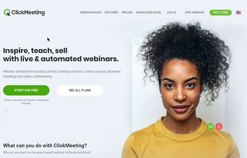 Click Meeting Webinar Software