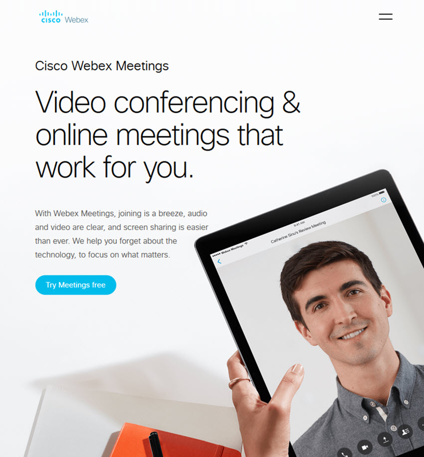 Cisco WebEx video conferencing software