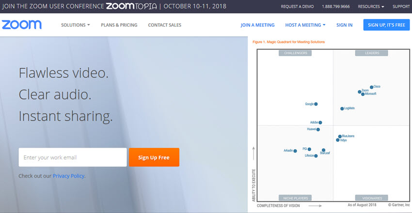 Zoom online meeting software