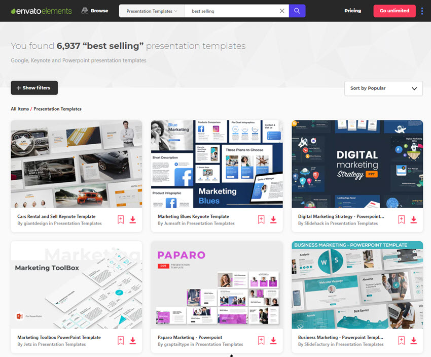 Web Meeting Presentation Templates