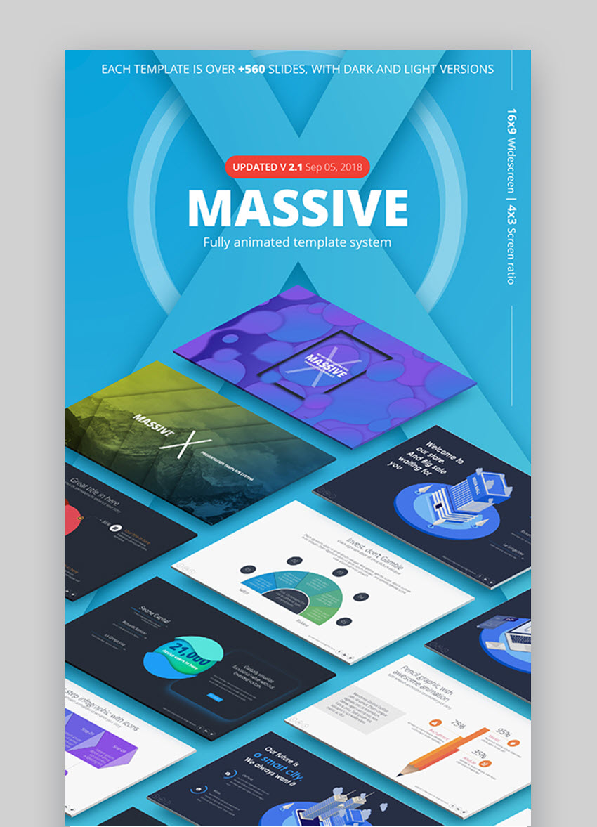 Massive X PowerPoint Presentation Inspiration Template