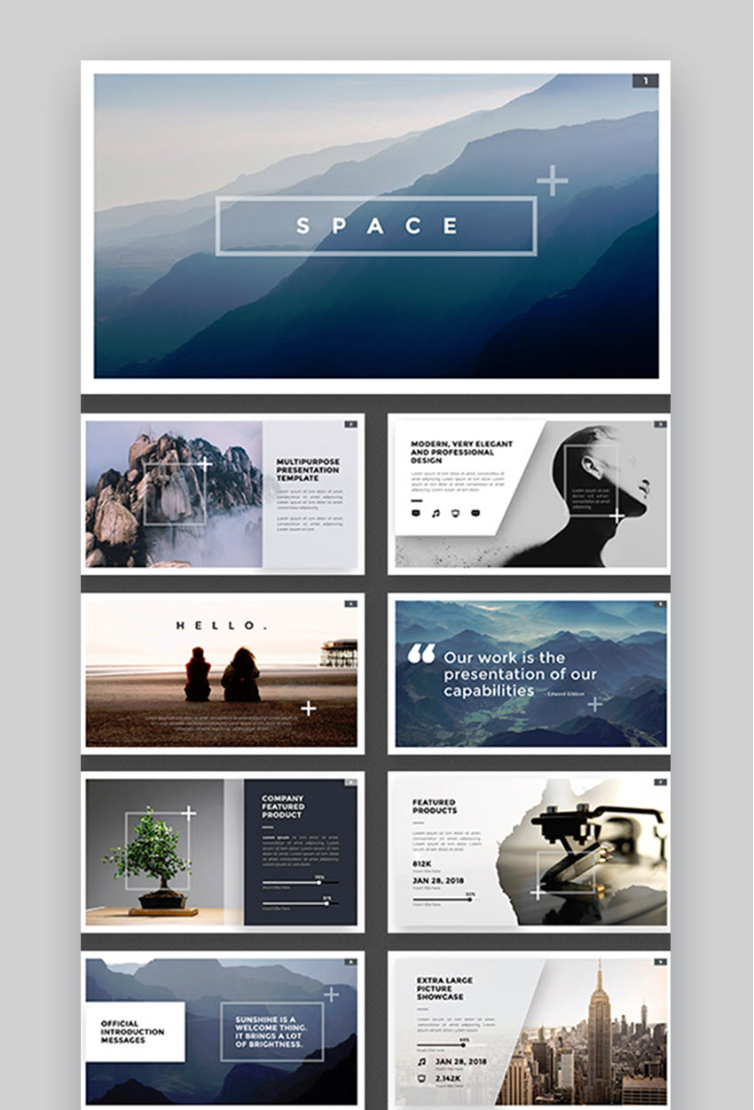 Space PowerPoint Design Inspiration Template