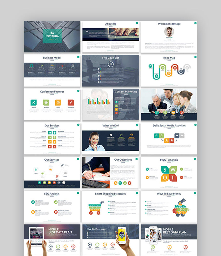 Montagua Multipurpose PowerPoint Slides Inspiration Template
