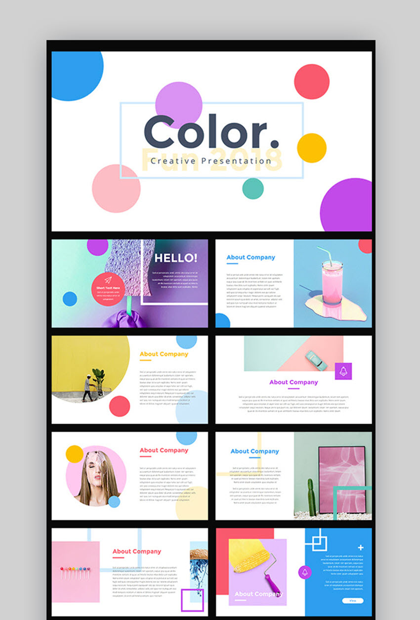 evolus pencil templates - colorful powerpoint templates gallery professional