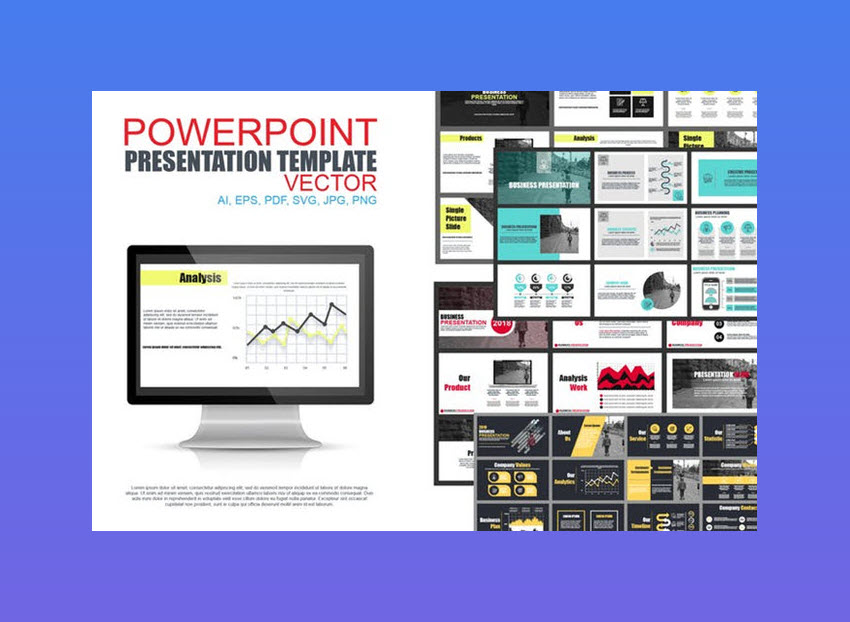 PowerPoint Presentation Template Vector