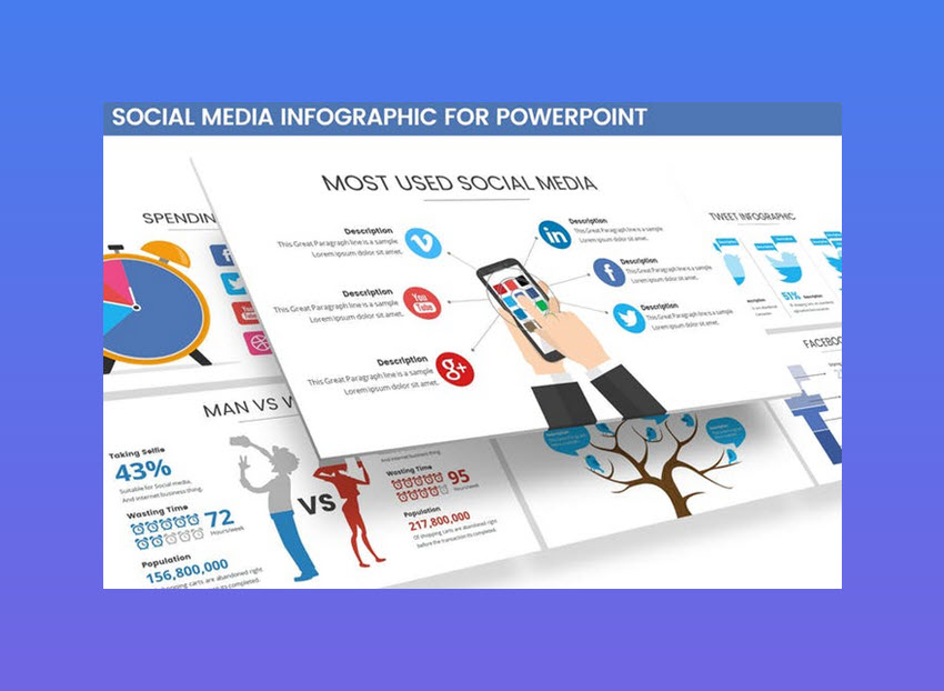 social media infographic for powerpoint