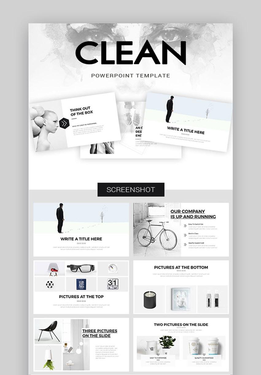 clean PowerPoint template design