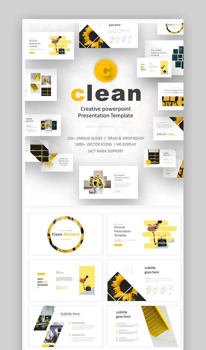 20 Clean Powerpoint Templates With Minimalist Designs For 2019