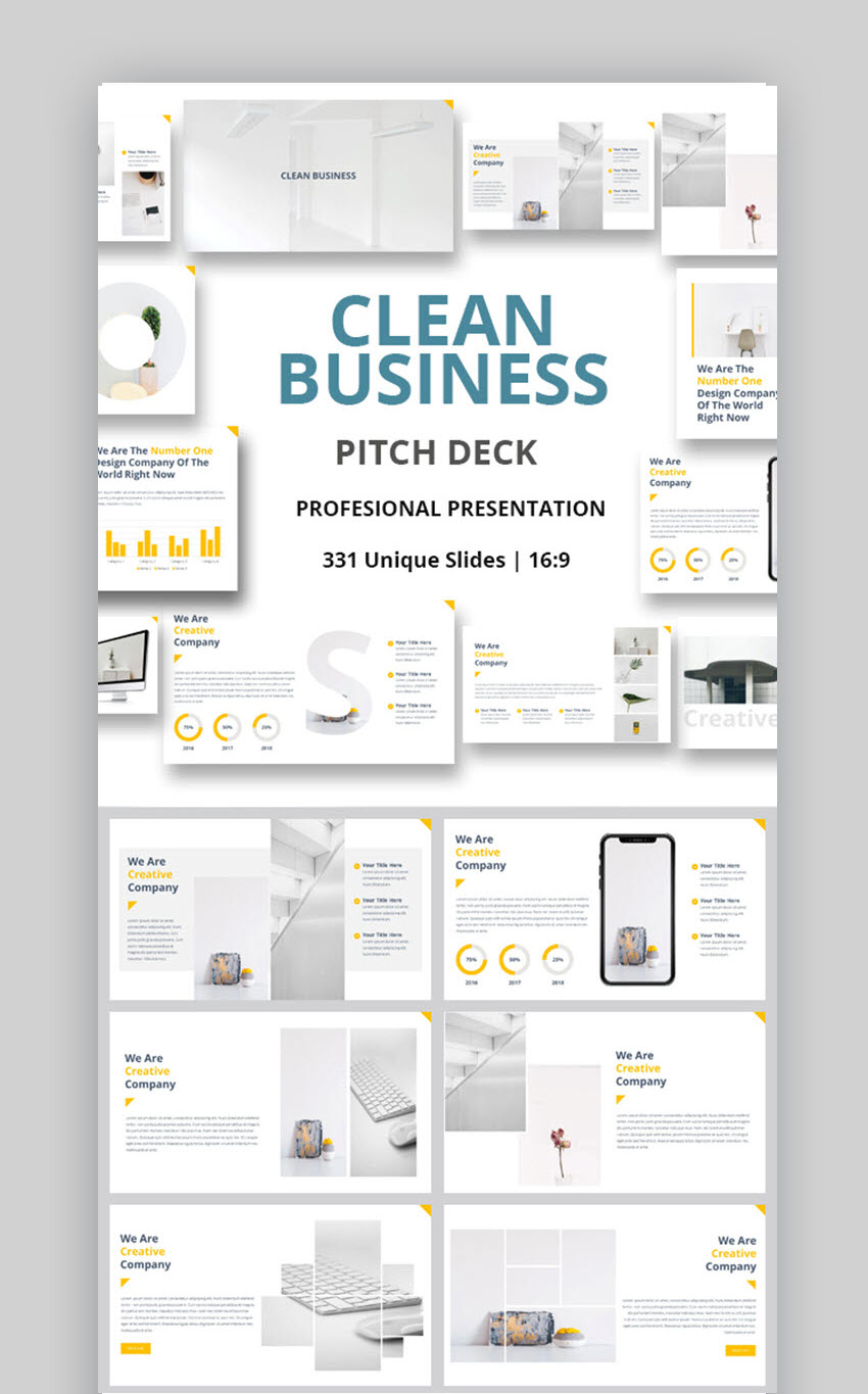 25 Clean PowerPoint Templates (PPTs) With Minimalist Designs (For 2019)