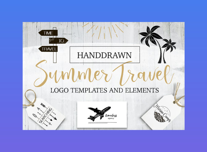 Summer Travel Logo Templates