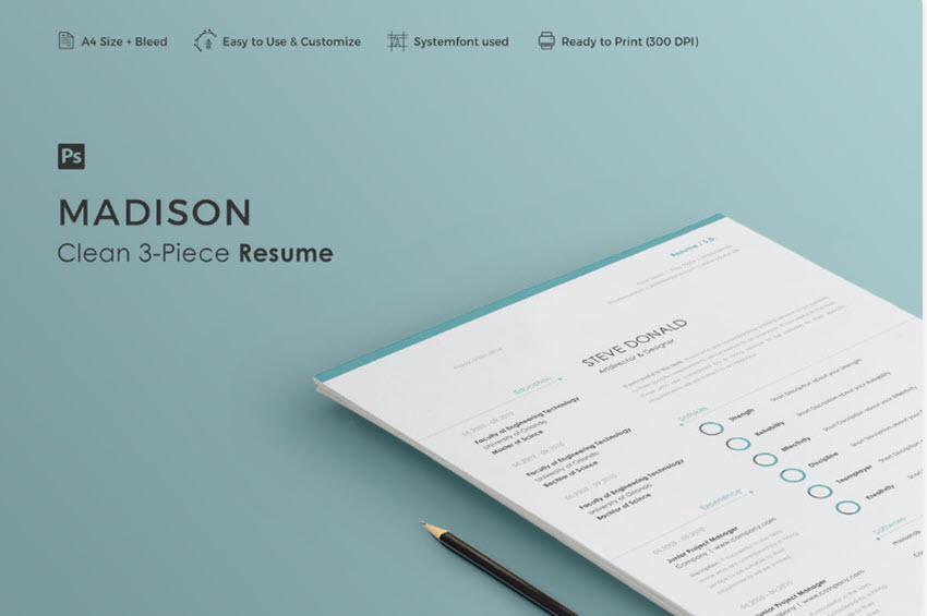 30 Simple Resume Cv Templates Easily Customizable Editable For