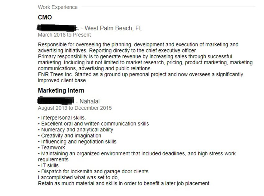 Bad Resume Examples Title Inflation