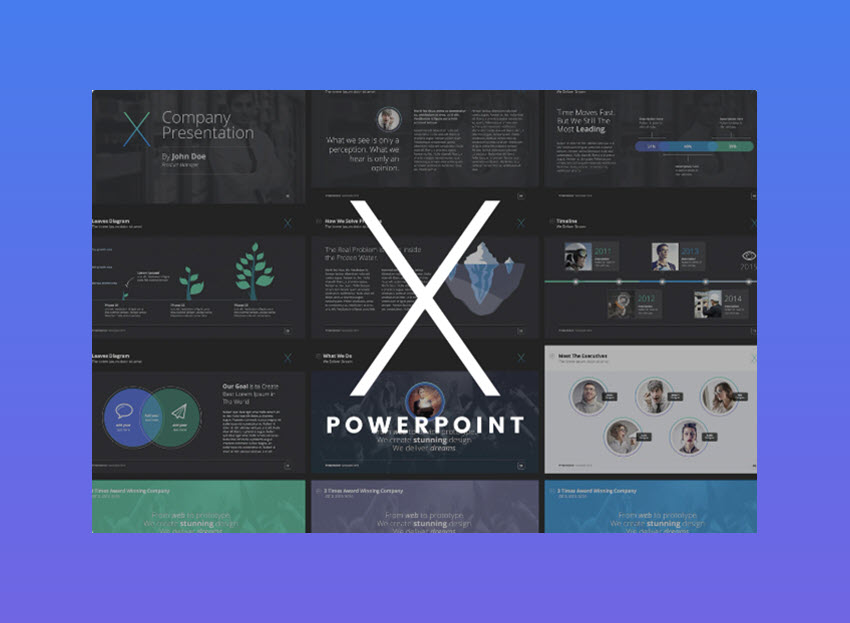 X-Note modern PowerPoint template