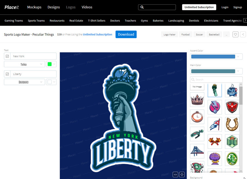 Sports Logo Maker - Peculiar Things