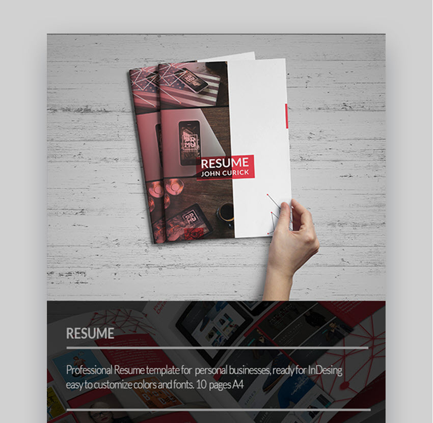 Creative Resume Awesome Visual Resume Template
