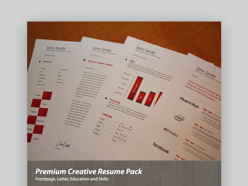 Premium Creative Resume Pack - Simple Visual Resume