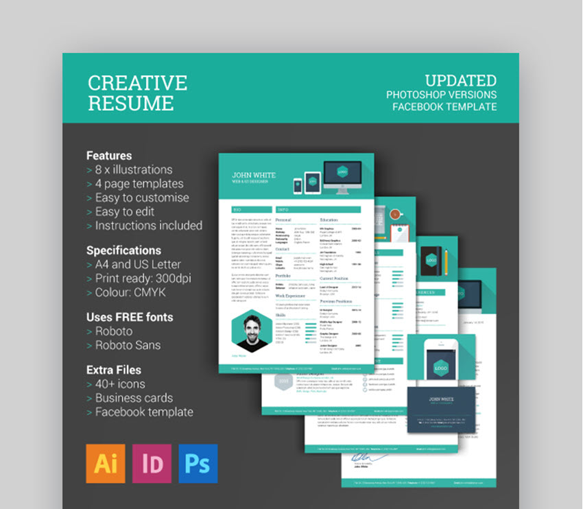 Creative Resume CV - Feature-Rich Visual Resume Template