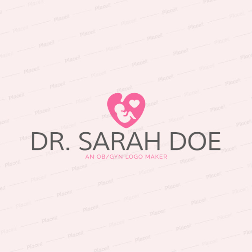 Women Health Logo Maker with Baby Symbols