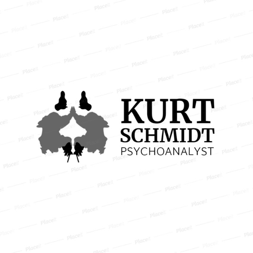Psychologist Logo Design Maker with Inkblot Graphics