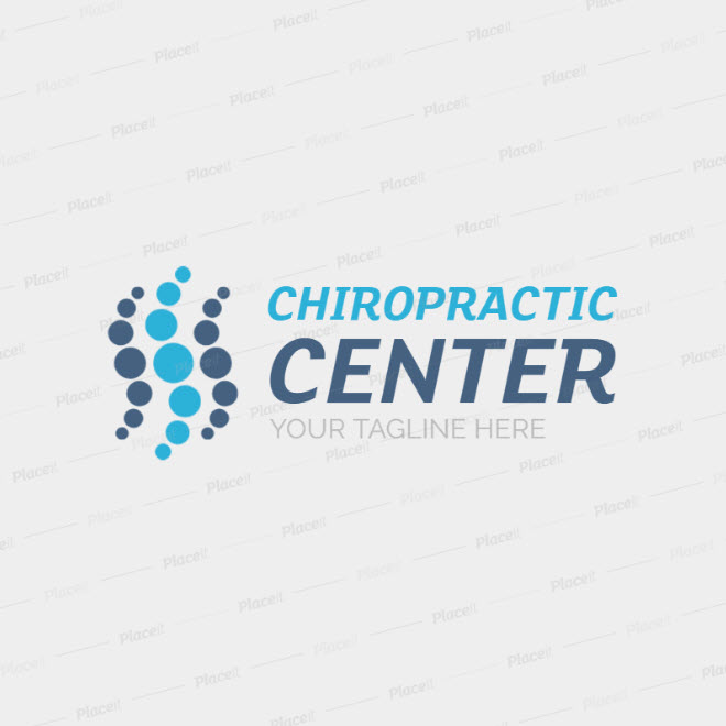 Chiropractic Wellness Center Logo Template